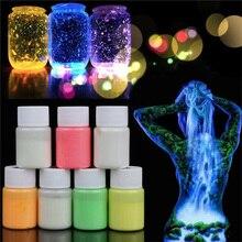 Mode Bunte 20g Wasserdichte Acryl Leuchtfarbe DIY Helle Pigment Party Körper Dekoration Glow In The Dark
