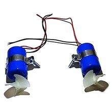 1Pair RC Jet Boat Underwater Motor Thruster 7.4V 16800RPM CW CCW 3-Blades Propeller for DIY Mini ROV Robot RC Bait цена 2017