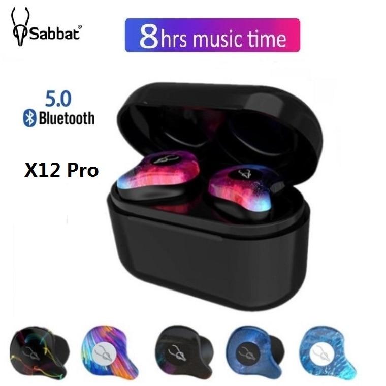 Sabbat X12 Pro Наушники-вкладыши Tws с Беспроводной наушники Bluetooth 5,0 Наушники Hi-Fi стерео гарнитура спортивные Водонепроницаемый Беспроводной науш...