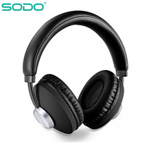 SODO Bluetooth Headphone Over-Ear Wired Wireless Headphones Foldable Bluetooth 5.0 Stereo Headset with Mic Support TF Card l3 bluetooth 4 2 headphone hifi stereo foldable bass wireless music headset support tf card 3 5mm wired mic led for iphone ipad
