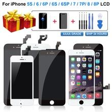 LCD מסך עבור iPhone 6 6S 7 8 עם 3D מגע מסך Digitizer עצרת החלפה עבור iPhone 5S תצוגה עם מתנה