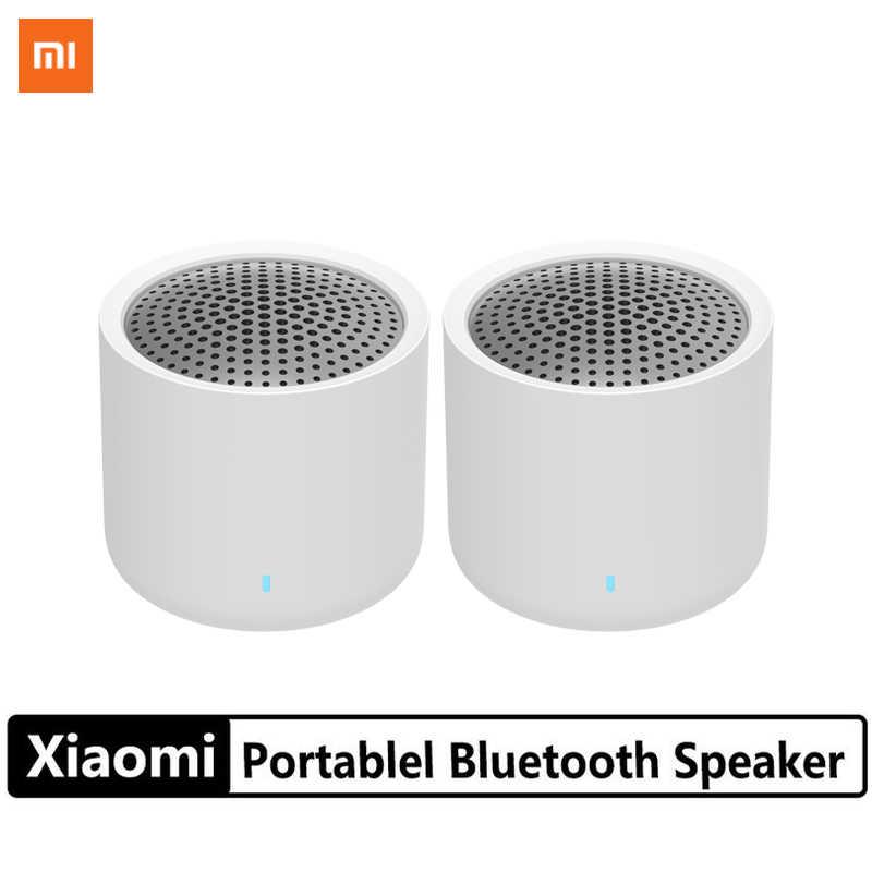 2pcs Xiaomi Portable Wireless Bluetooth 5 0 Speaker Set Mini Music Audio 2 0 Tws Stereo Sound Speaker With Microphone For Phone Aliexpress