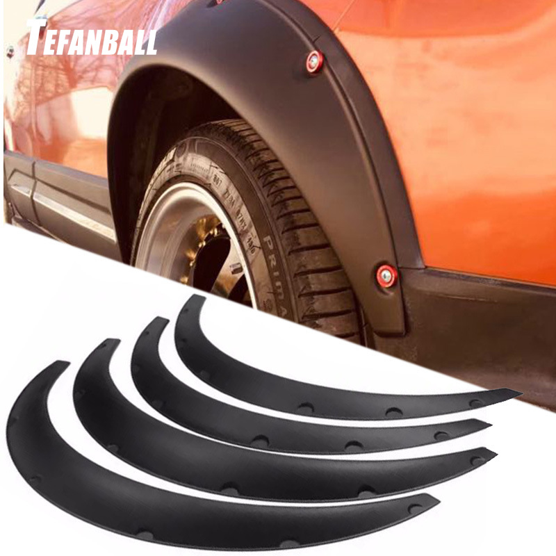 4 PCS Universal Flexible Car Fender Flares Extra Wide Body Wheel Arches