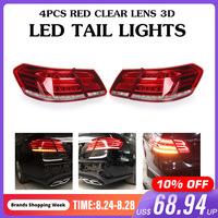 LED Tail Lights For Mercedes Benz E Class W212 E350 E300 E250 E63 Sedan Lamps ABS 49x19cm Car Light Assembly Direct replacement