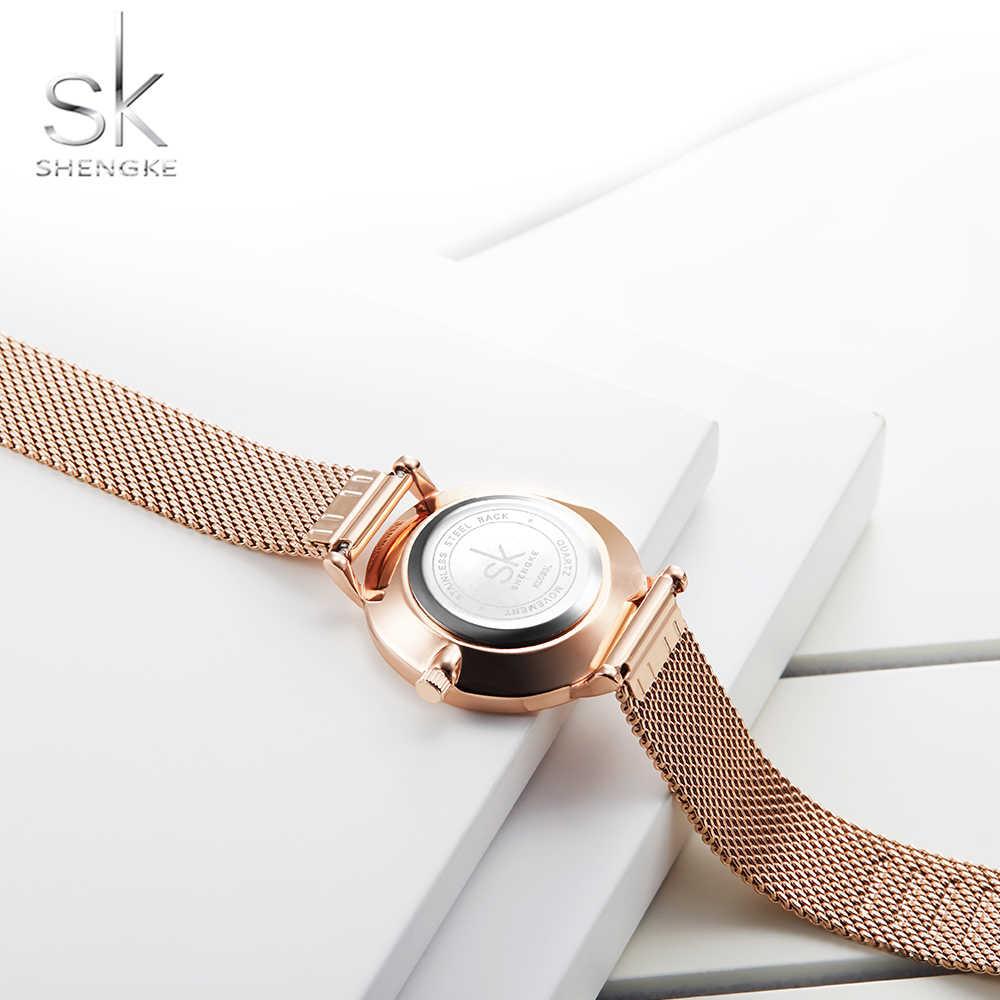 Shengkeใหม่ผู้หญิงนาฬิกาLuxury Rosegoldควอตซ์ผู้หญิงนาฬิกานาฬิกาผู้หญิงนาฬิกาRelogio Femininoตาข่ายนาฬิกาข้อมือReloj Mujer