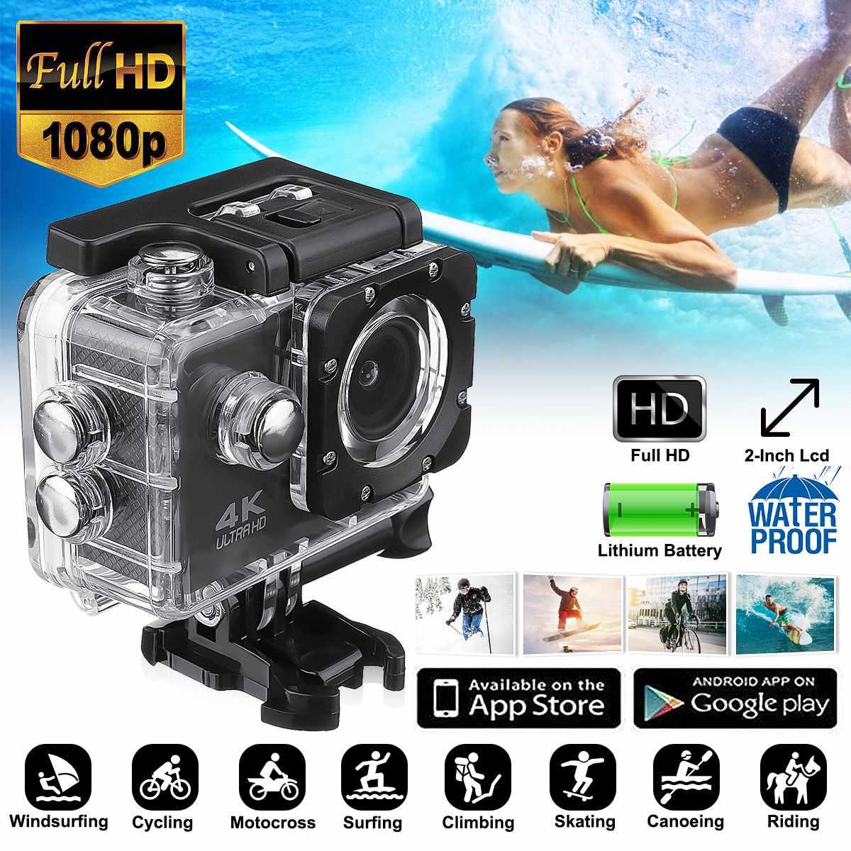 Action Camera Wifi Ultra HD 4k 1080P 170 Degree  Waterproof Underwater Sport Camera Video Camcorder