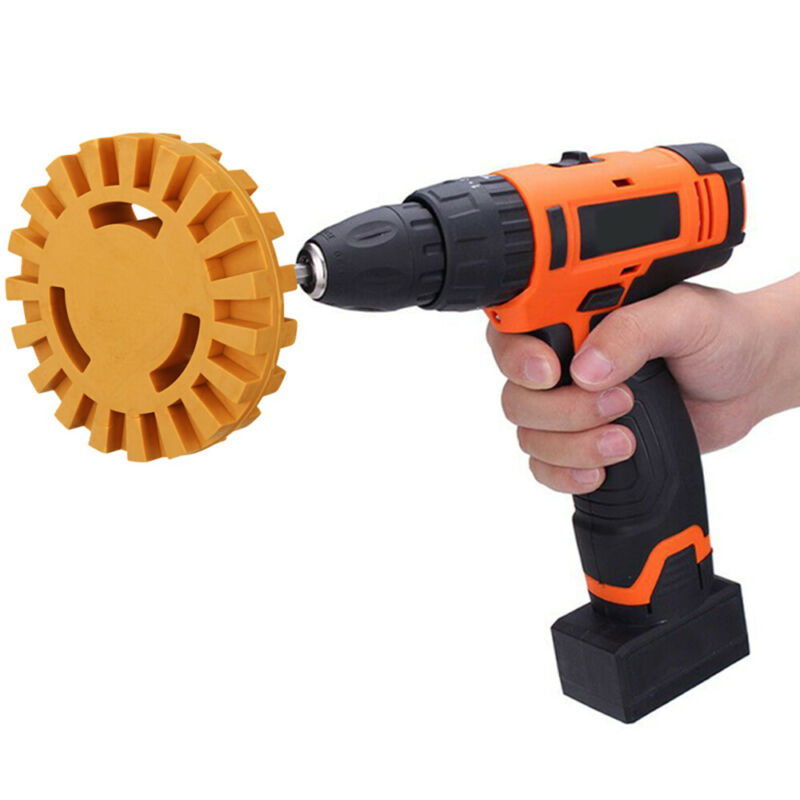 Fluted Tool Eraser Car Sticker Remover Pinstripe Decal Rubber Disk Good Price