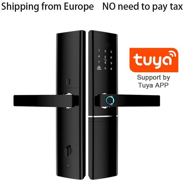 Tuya WIFI Smart tür lcok Cerradura inteligente, Touchscreen Tastatur Passwort, fingerprint mit Fechadura Digitale Türschloss