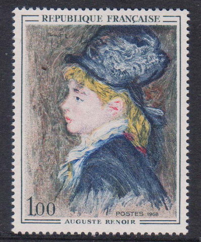 FR3026 France Stamp 1968 Art Series Renoir Painting Model Engraving 1Pcs New Postage Stamps For Collection MNH