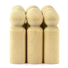 10 шт деревянный колышек куклы недостроенный мужской фигуры