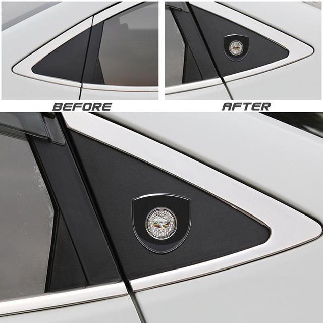 Car Sticker for Cadillac SLS XLR XTS ATS BLS CTS EXT STS SLR SRX Emblem Logo Stickers Crystal Decorative Decal Auto Accessories