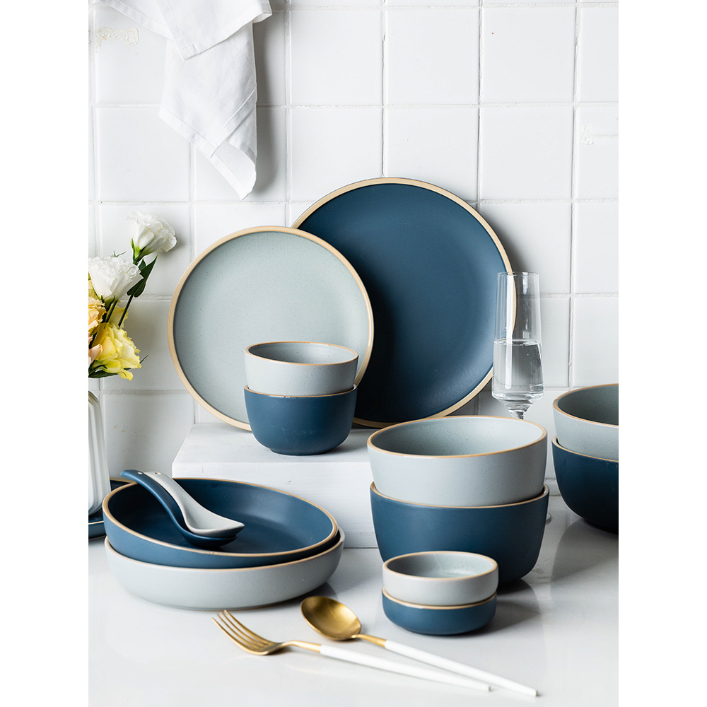 ceramic dinner plates creative solid dinnerware set pigmented kitchen dishes and plates sets cutlery tableware