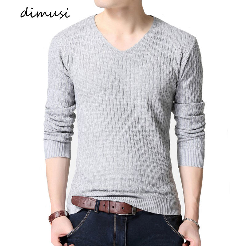 DIMUSI Autumn Men Sweater Casual V-Neck Solid Color Turtleneck Shirt Sweaters Men Slim Fit Brand Wool Knitted Pullovers Clothing