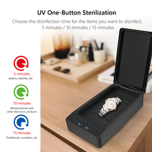 UV-C Light Charger Disinfector Smartphone Sanitizer Wireless Space-saving Box for Home Phone Face Cover Protection
