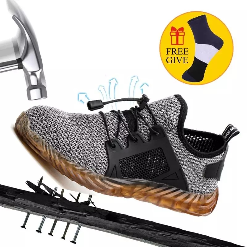 Dropshipping Men Women Work Safety Shoes Puncture Proof Work Construction Indestructible Shoes