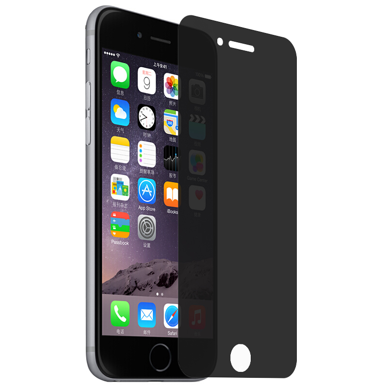 Anti- Privacy Screen Protector for iPhone 8 Plus Tempered Glass Film Screen Protectors Accessories Parts