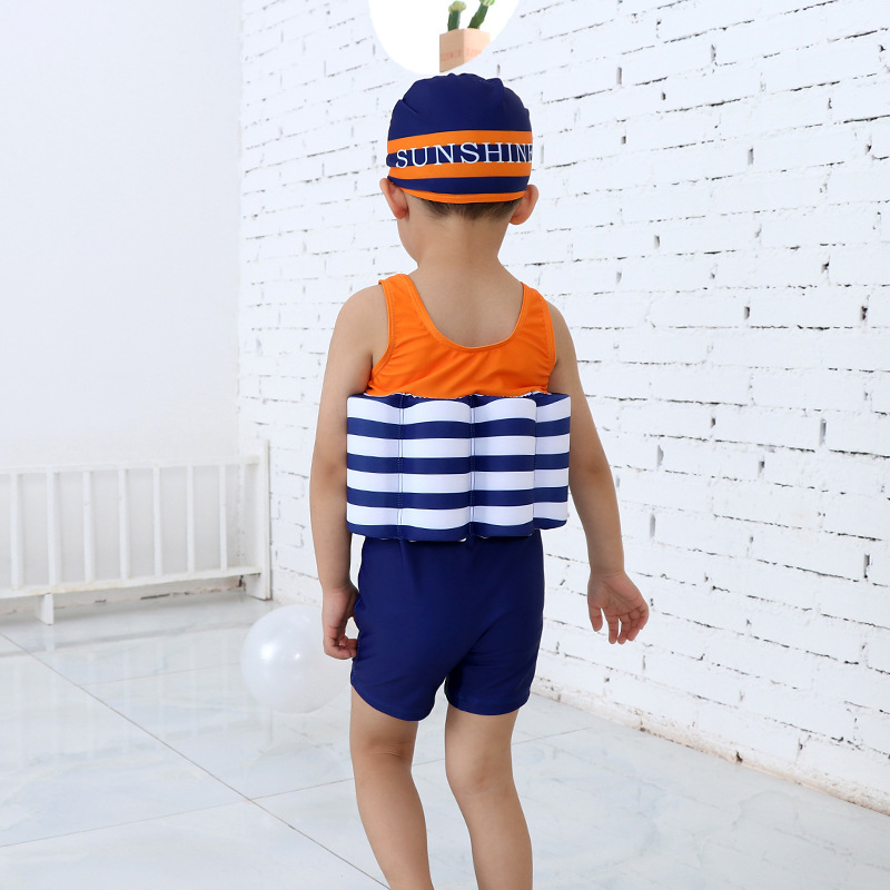 CHILDREN'S Buoyancy Swimsuit GIRL'S One-piece Swimsuit Infants Men's Floating Vest Beginners Learn Swimming Useful Product
