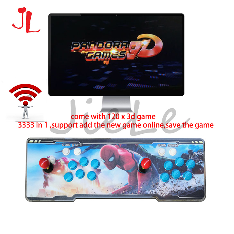 WIFI Pandora Saga Box 3333 in 1 Save Function Multiplayer Joysticks and Buttons Retro Arcade Games Console support 3P 4P image