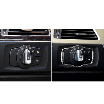 New Headlight Switch Frame Cover Car Interior Decor for BMW E90 E92 E93 Vehicles image