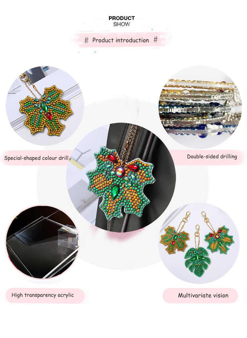 Diamant broderie porte-clés diamant peinture point de croix sac porte-clés diamant peinture accessoires artisanat Kit