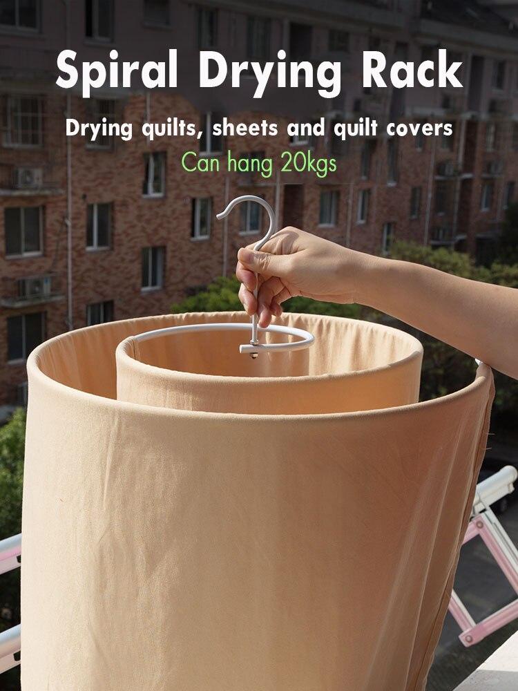 Drying Artifact Circular Spiral Sheets Quilt Hanger Drying Racks Rotation Mono- Balcony Drying Racks