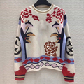 100 Cashmere Sweater Women Winter Pullover 2019 Floral Print Knit O-neck Long Sleeve High Quality Sweater Top