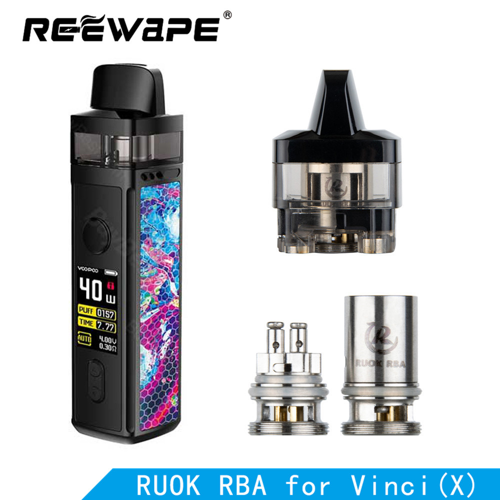 1pcs Original Reewavpe RUOK RBA Coil 510 Connector Adapter Electronic Cigarette Replacement Vape Coil Head For Vinci /vinci X