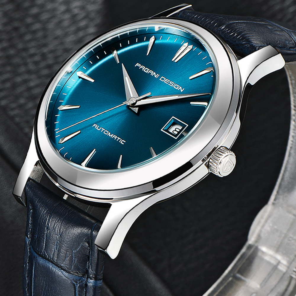 PAGANI DESIGN 2019 New Men's Classic Mechanical Watches Business Waterproof Clock Luxury fashion Genuine Leather Automatic Watch