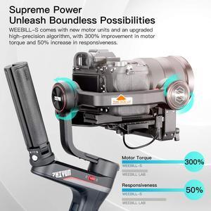 Image 2 - Zhiyun Weebill S, laboratuvar 3 eksenli Gimbal sabitleyici aynasız ve DSLR kameralar gibi Sony A7M3 Nikon D850 Z7, 300% geliştirilmiş Motor