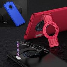 Neueste Fall für VIVO NEX 3 Fall NEX3 360 Volle Schutz Matte PC Abdeckung für VIVO Nex 3 Fall Mit invisible Magnetic Stand