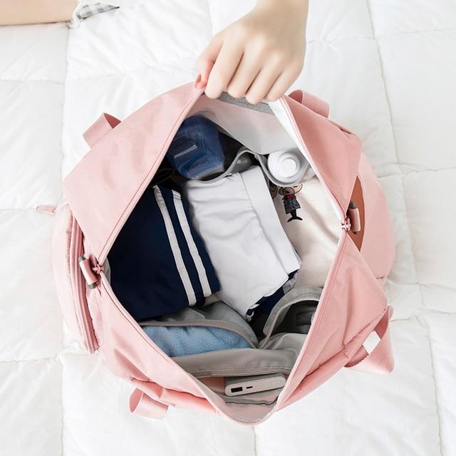 Pink Crossbody Shoulder Handbag Gym Sport Bag Men For Gym Women Fitness Bag Travel Training Bags Yoga Mat Bag Sac De Sport 2