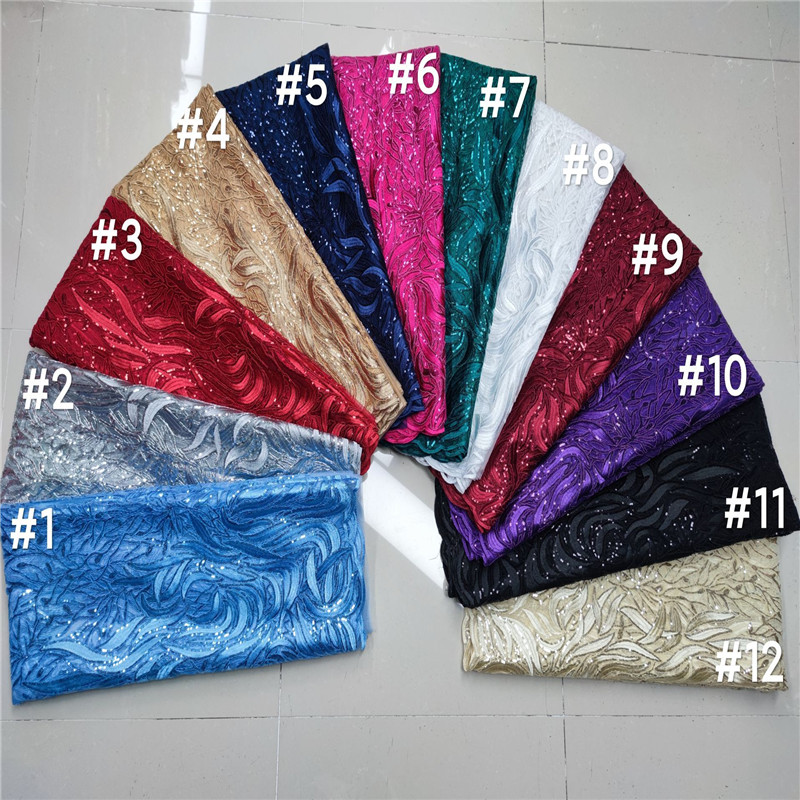 lantejoulas africano tecido de renda alta qualidade