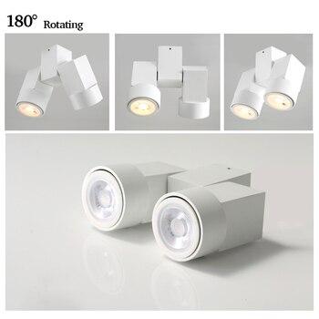 Indoor led downlight led gu10 180 adjustable double surface mount spotlight white/ black ceiling light 1