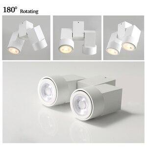 Image 2 - Kapalı led downlight led gu10 180 ayarlanabilir çift yüzey montaj spot beyaz/siyah tavan ışık