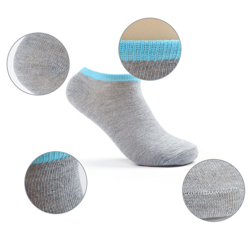 Newly 5 Pairs Fashion Spring Summer Men Socks Comfortable And Breathable Splice Color Non-slip Ankle Low Cut Sock CLA88