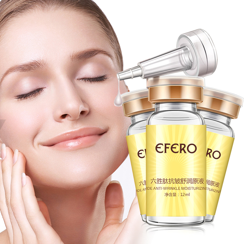 Six Peptide Face Care Lift Serum  Argireline Hyaluronic Collagen Anti Wrinkle Cream Whitening efero