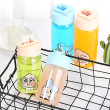 Glass student creative cover hydro flask bottle water cup with straw Thermal Insulation Brief Hiking glass water bottle цена и фото