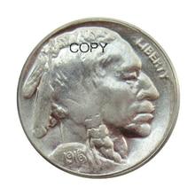 1916/1916 Dupla Morre Buffalo Nickel Cinco Centavos de Dólar DOS EUA Moedas COPIAR