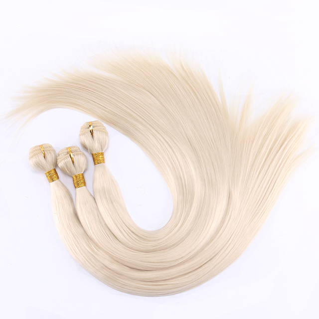 FSR 100 gram/pcs 613# Straight Hair Weaving 14-30 Inch Synthetic Hair Extensions double weft hair Bundles 1