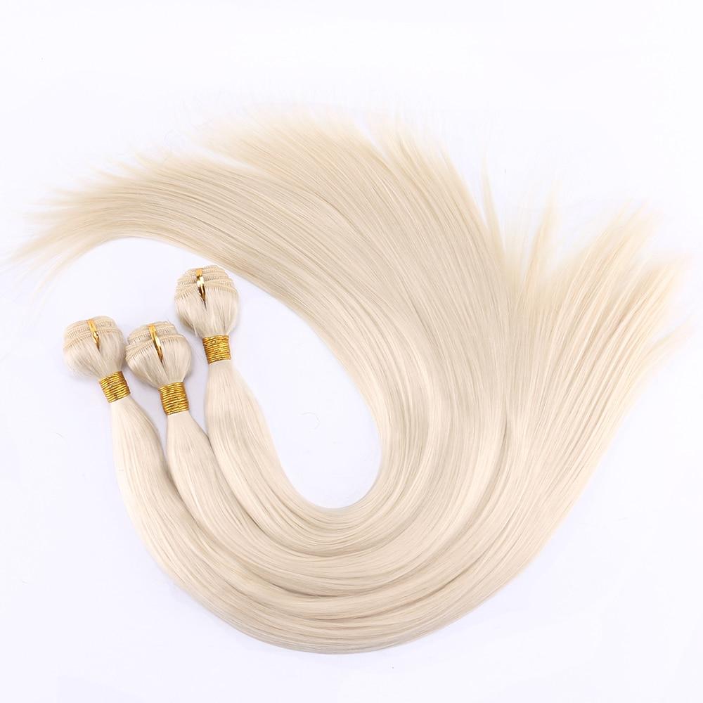 FSR 100 г/шт. 613 # прямые пряди для наращивания, 14-30 дюймов, синтетические волосы для наращивания, двойные пряди