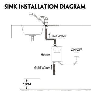 Image 5 - Mini Tankless MÀN HÌNH Kỹ Thuật Số LCD Máy Nước Nóng Tức Thì Nóng Vòi bếp Nóng Bình Giữ Nhiệt HOA KỲ Cắm Thông Minh Năng Lượng tiết kiệm Chống Thấm Nước