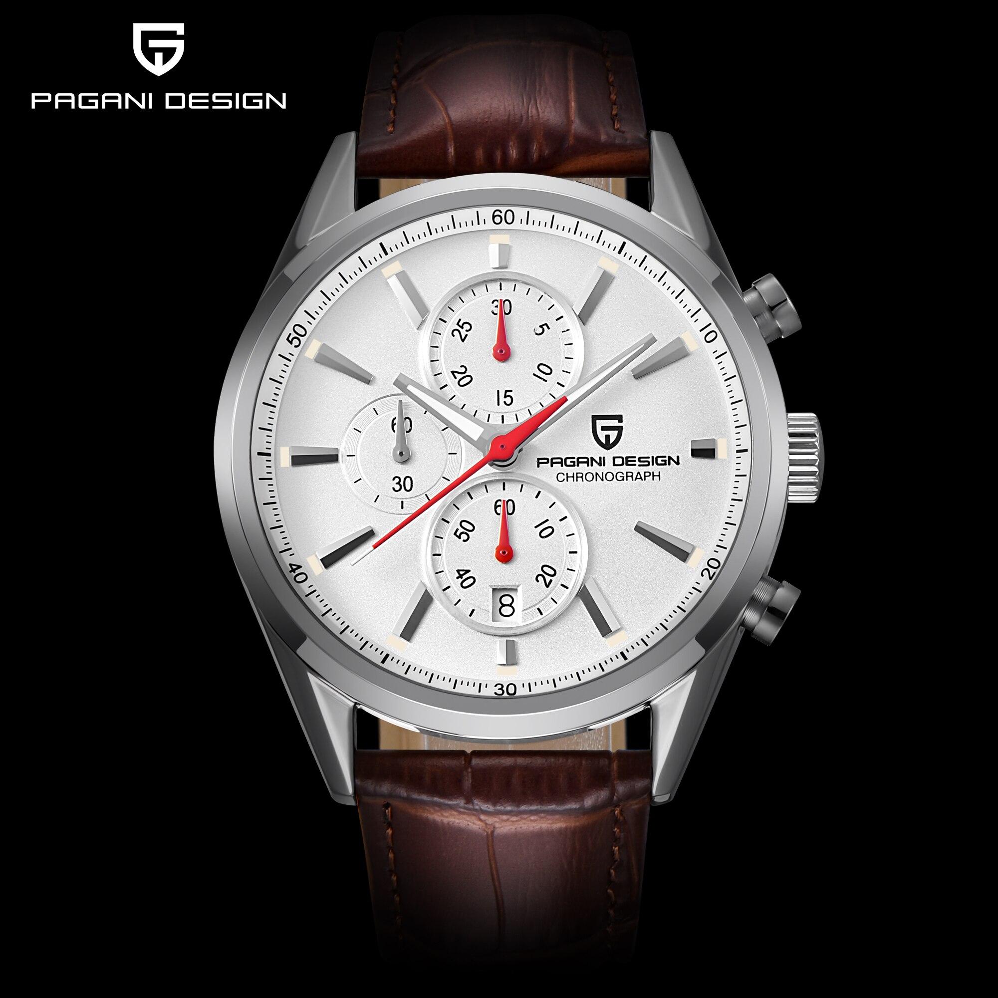 PAGANI DESIGN Mens Watch Top Brand Luxury Stainless Steel Sport Watch Male Quartz Wristwatch Men Clock Relogio Masculino