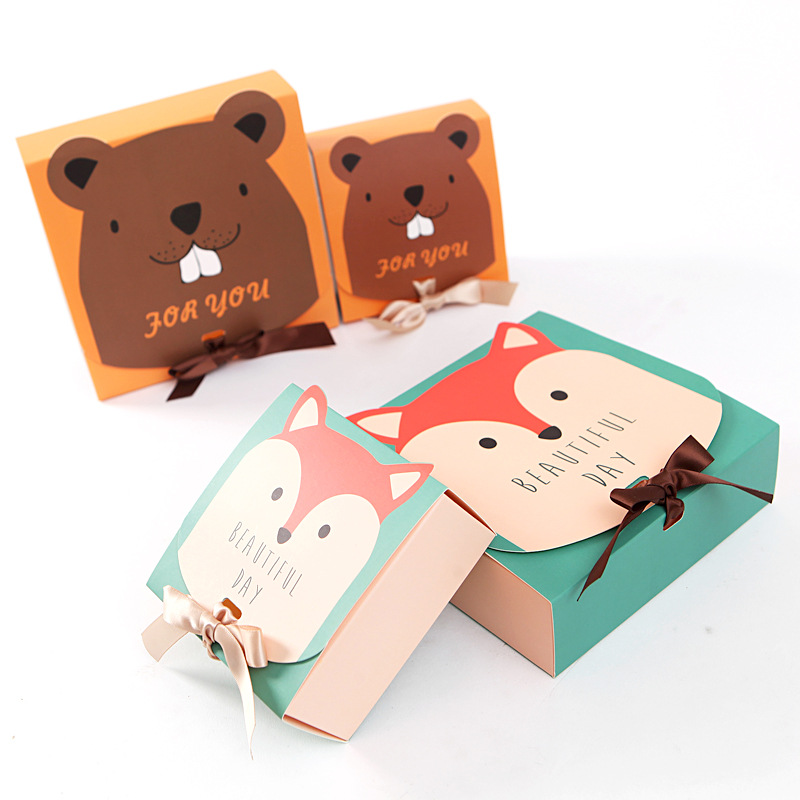 Jungle Party Theme Candy Bags Birthday Party New Year Party Delicate Square Gift Candy Box For Special Holiday Gift Decoration