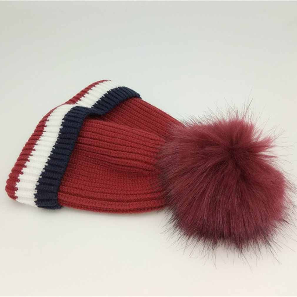 OUTAD פעוט תינוק בני בנות כובע כובע חורף ילדי יוניסקס סרוג בימס עבה כובע תינוקות ילדים חם כובע חדש מכירה
