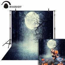 Allenjoy фон на Хэллоуин ужасный лес винтажный лунный фон для фото для детской фотосъемки фоны для фотостудии