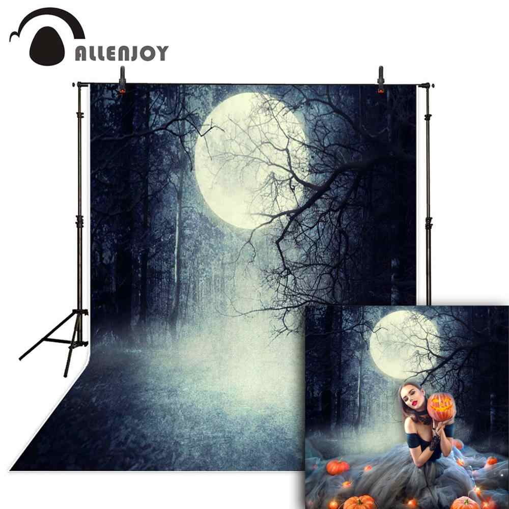 Allenjoy Halloween Background Terrible Forest Vintage Moon Background For A Photo For Baby Backdrop Backgrounds For Photo Studio Halloween Background Moon Backgroundsbackground For Photo Aliexpress