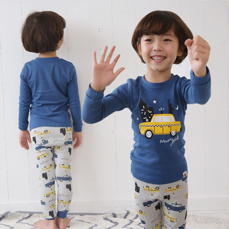 Autumn And Winter New Style Baby Pajamas Tracksuit CHILDREN'S Underwear Suit Men And Women Children Thermal Underwear Cotton Paj