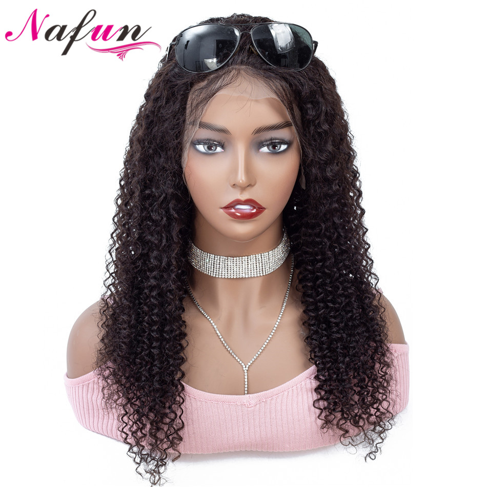 NAFUN Hair Lace Front Human Hair Wigs For Black Women Human Hair Wig Peruvian Remy Curly