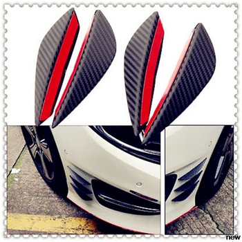 4Pcs Fiber car auto Spoiler Canards Front Bumper fin for BMW all series 1 2 3 4 5 6 7 X E F-series E46 E90 F09 image