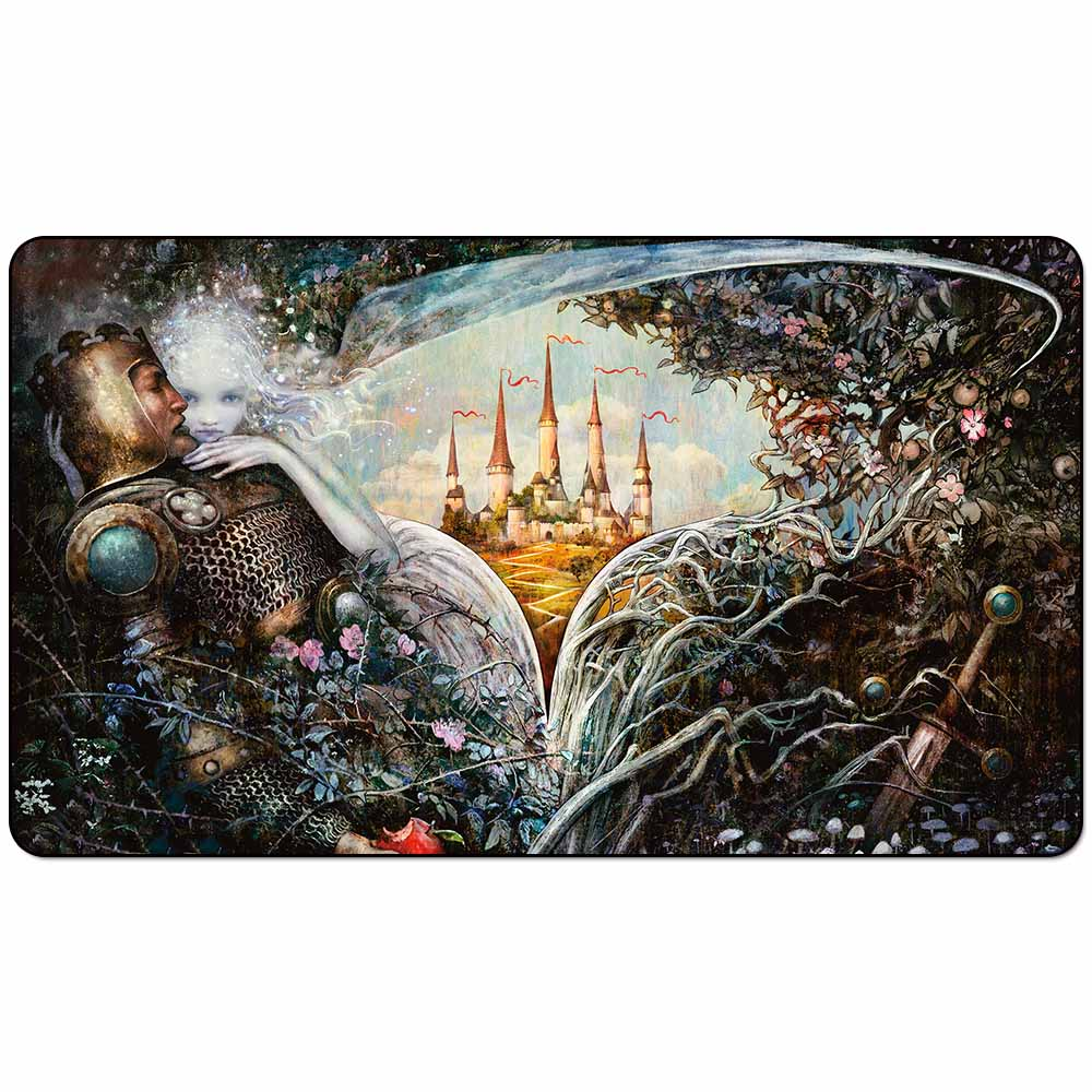 Board Game Mtg THRONE OF ELDRAINE TEASER Playmat:  TEASER Art Playmat Board Game Mat TCG Playmat 60cm X 35cm (24